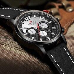 ARMIFORCE męski chronograf wojskowe zegarki sportowe mężczyźni zegarek kwarcowy analogowy skórzany wodoodporny data zegar mężczyzna zegarek Relogio Masculino
