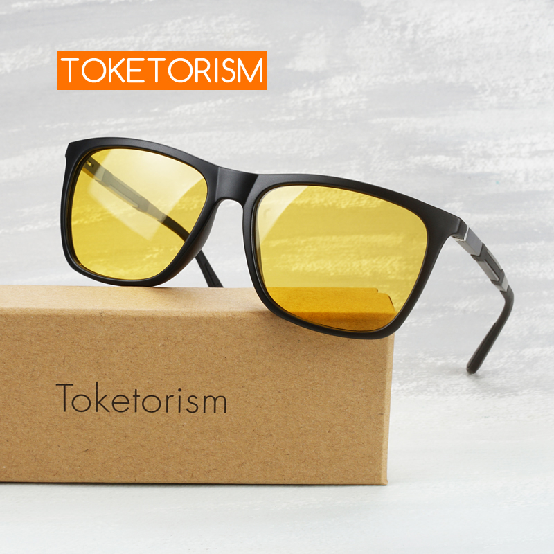 Toketorism High Quality Glasses Anti Light Car For Driver Night Vision Sunglasses For Men Y745A