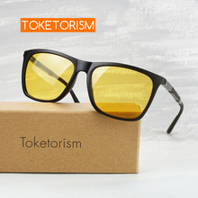 Toketorism high quality glasses anti light car for driver night vision sunglasses men Y745A
