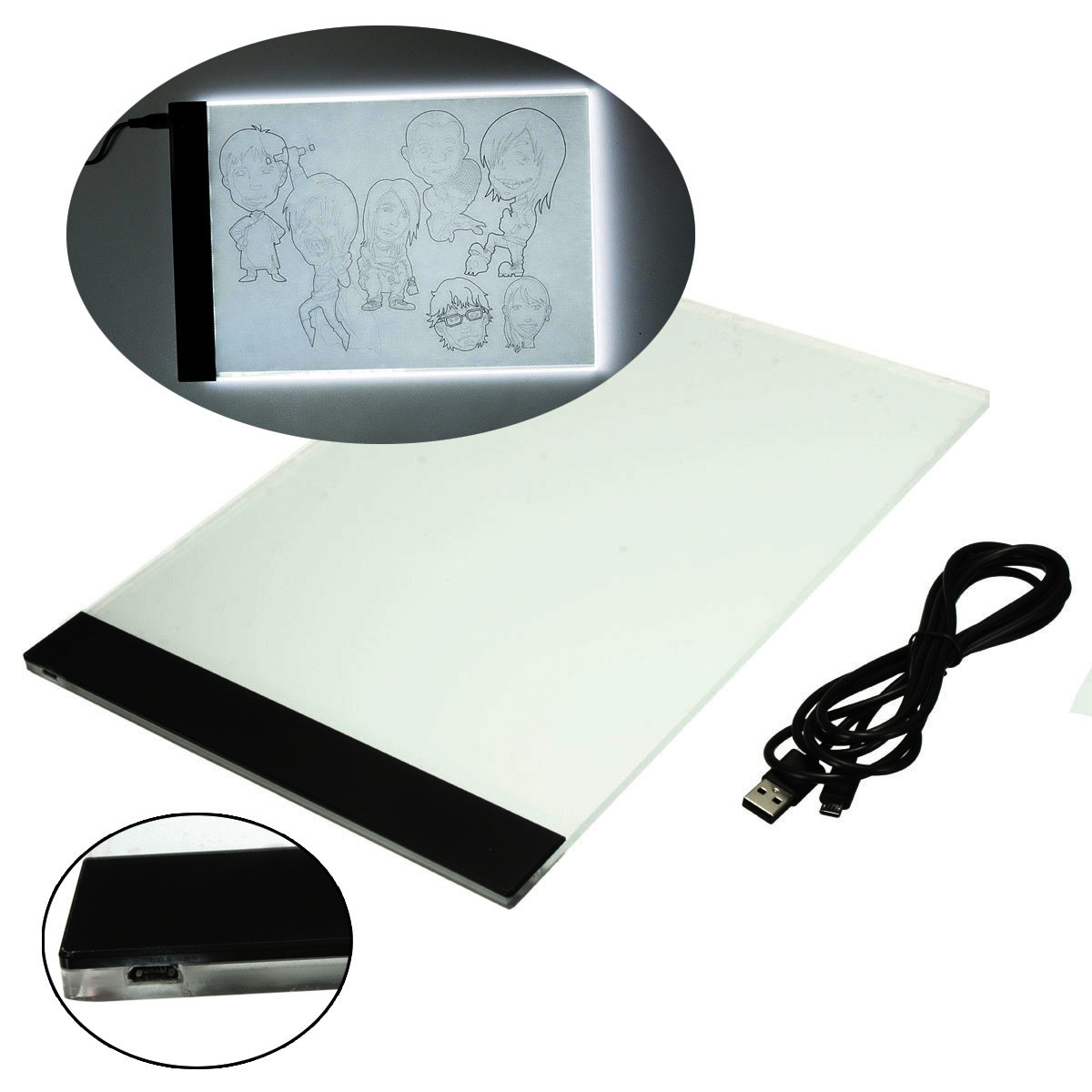 2016 Brand New A4 LED Light Stencil Board Ultra Thin Box Tattoo Supply Tracing Table Pad Touch