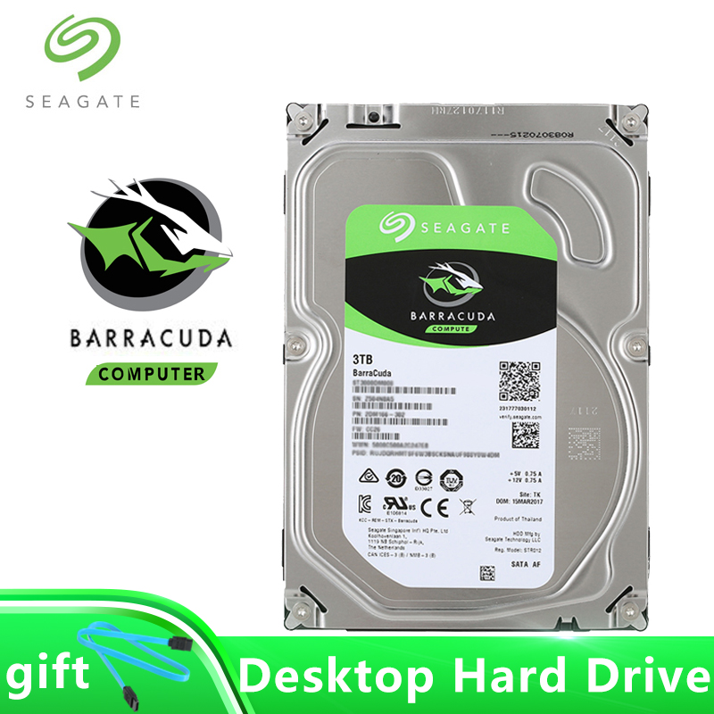 Seagate BarraCuda Internal HDD 3TB SATA 6Gb s 64MB Cache Hard Drive 7200RPM 3 5 Inch