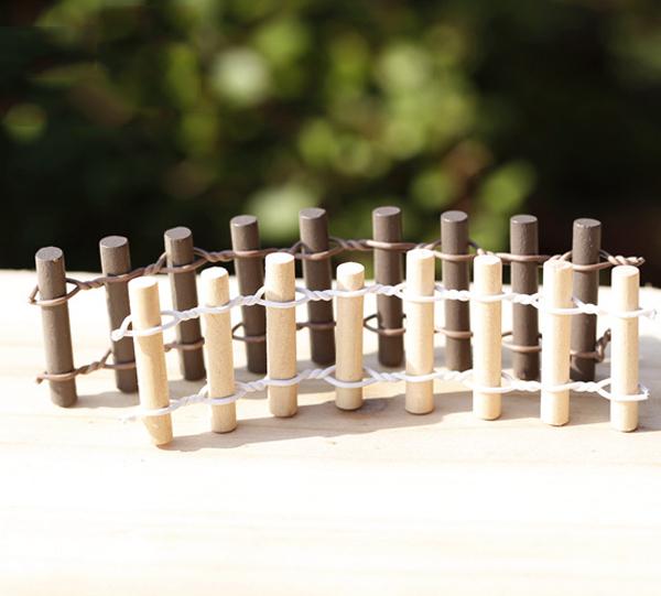 10 unids vallas de madera valla de madera en rollo micro paisaje decoracin del jardn de
