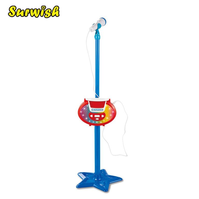 Surwish portátil niños Karaoke máquina de juguete ajustable estrella Base soporte micrófono reproducción de música juguete
