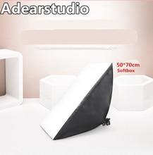 photography softbox 110v-220v light kit photo stand photo E27 bulb softbox 50*70cm photographic equipment softbox CD50