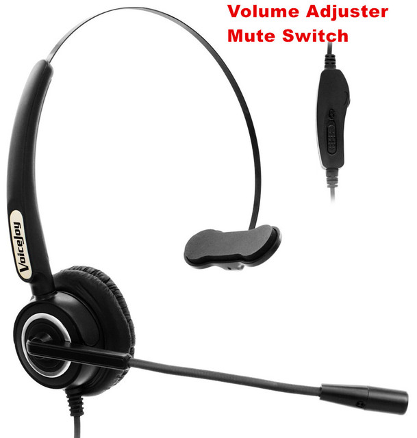 US $19 38 29% OFF|Volume and Mute Switch headset with microphone ONLY For  AVAYA 1600 9600 series ,Yealink, Snom ,Grandstream GXP12XX Phones,etc-in