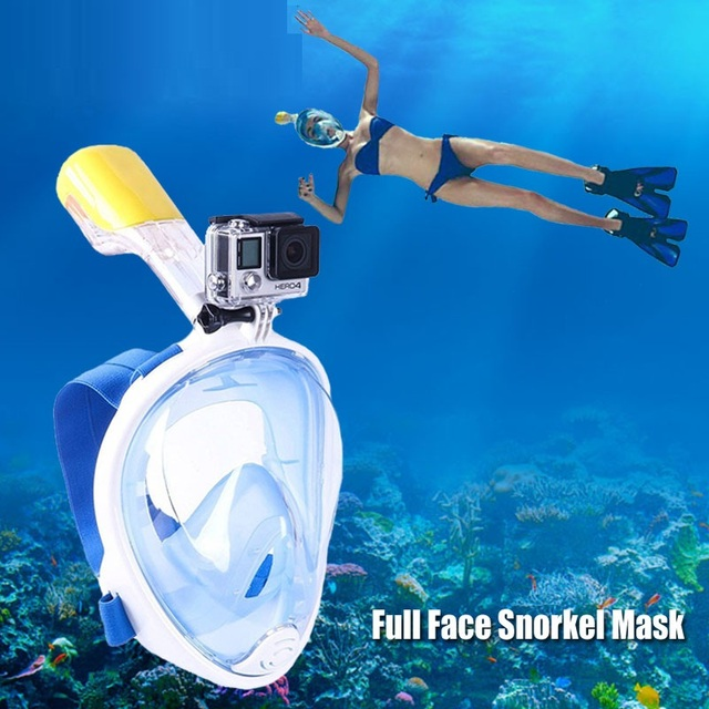 2017 New Scuba GoPro Camera Snorkel Mask Underwater Anti Fog Full Face Snorkeling Diving With