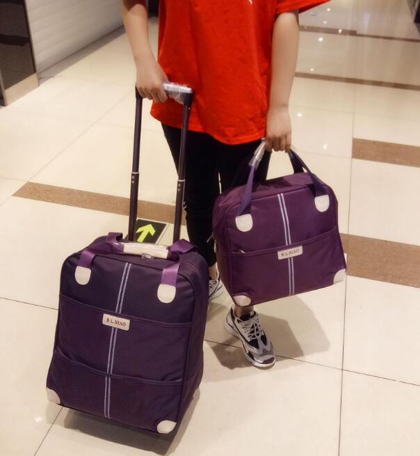 women travel trolley bags wheeled suitcase for luggage