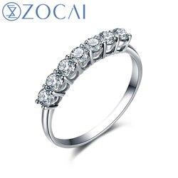 Zocai princess prong setting natural 0 28 ct certified diamond wedding ring 18k white gold au750.jpg 250x250