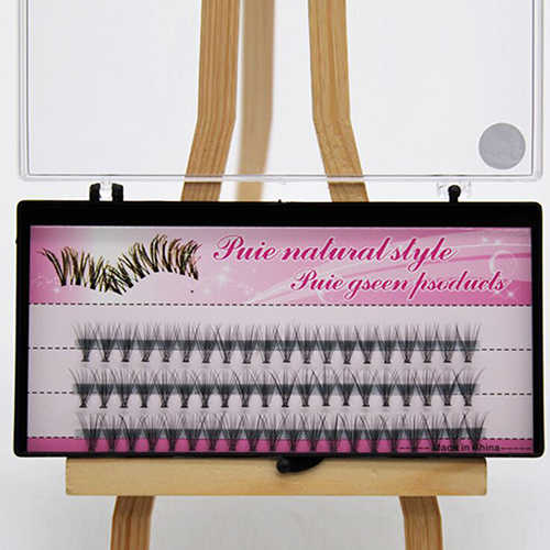 Natural False Eyelashes 60 Pieces 8/10 / 12mm Makeup Personal Cluster Accessories Eyelash False Eyelashes