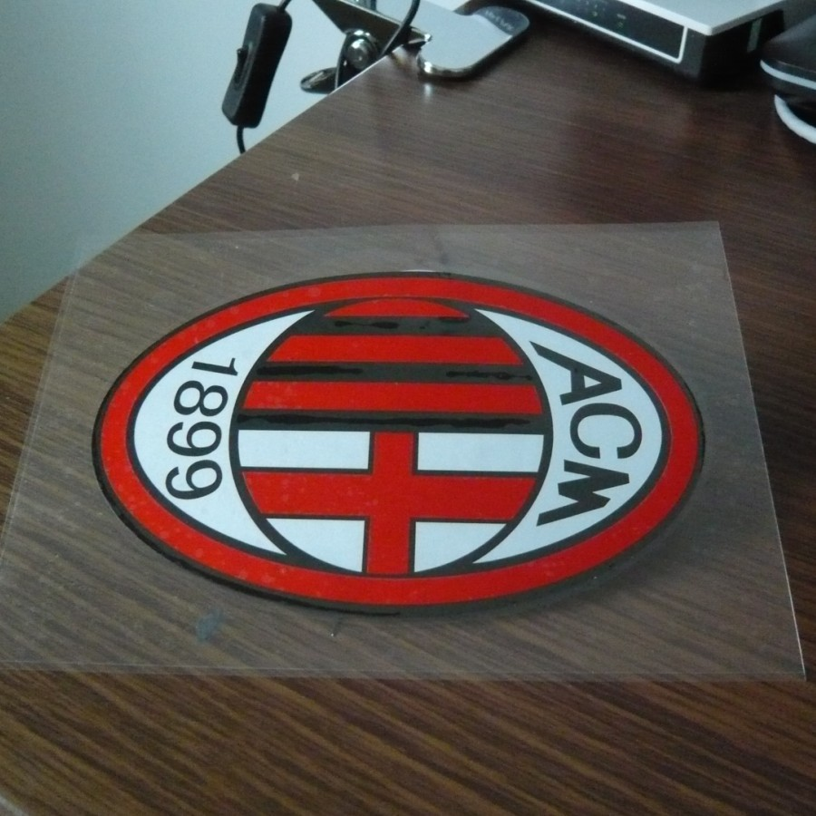 AC Milan high quality funny vinyl wrap reflective tape car stickers and decals for car and motorcycle