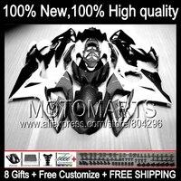 Black White Bodys For SUZUKI GSXR1000 09 10 11 12 13 GSXR 1000 90JK1 GSX R1000