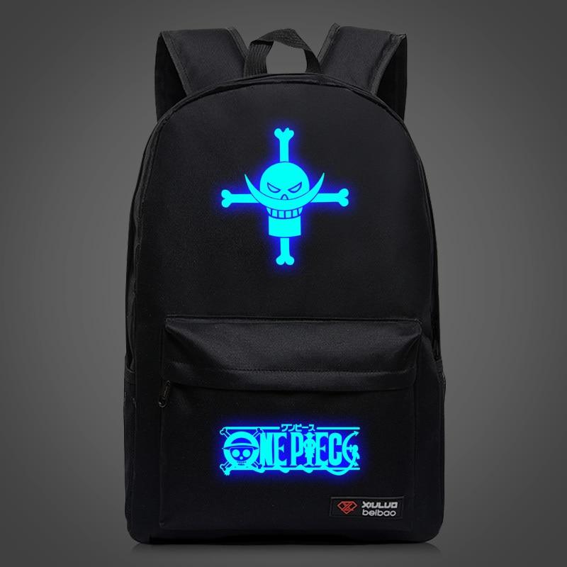 송료 무료 고품질 일본 애니메이션 원피스 배낭 Luffy Backpack School Bags for Teenagers OP 캔버스 책가방