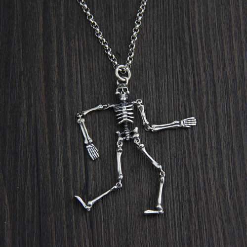 Free shipping S925 sterling silver Personality Unique Skull Pendants for Men Retro Skull Jewelry Man's Personality Jewelry