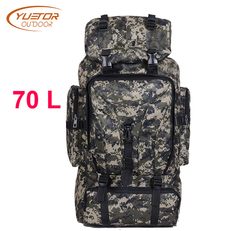 70L Men Camping Waterproof Travel Military Army Bags Outdoor Sport Molle Tactical Rucksacks Camouflage Hiking Backpacks men military tactical backpack hiking waterproof travel sport outdoor bags multifunctional black backpacks camping army bag