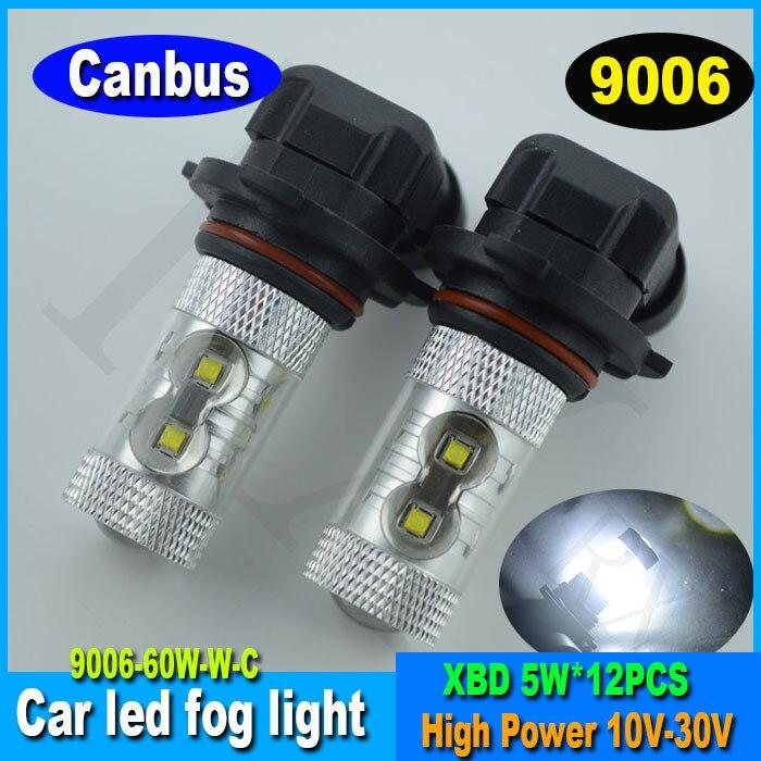Hot sale 2015 high power 10-30v 60w led bulb canbus car led fog light/lamp 9006  9005 H4 H8 H11