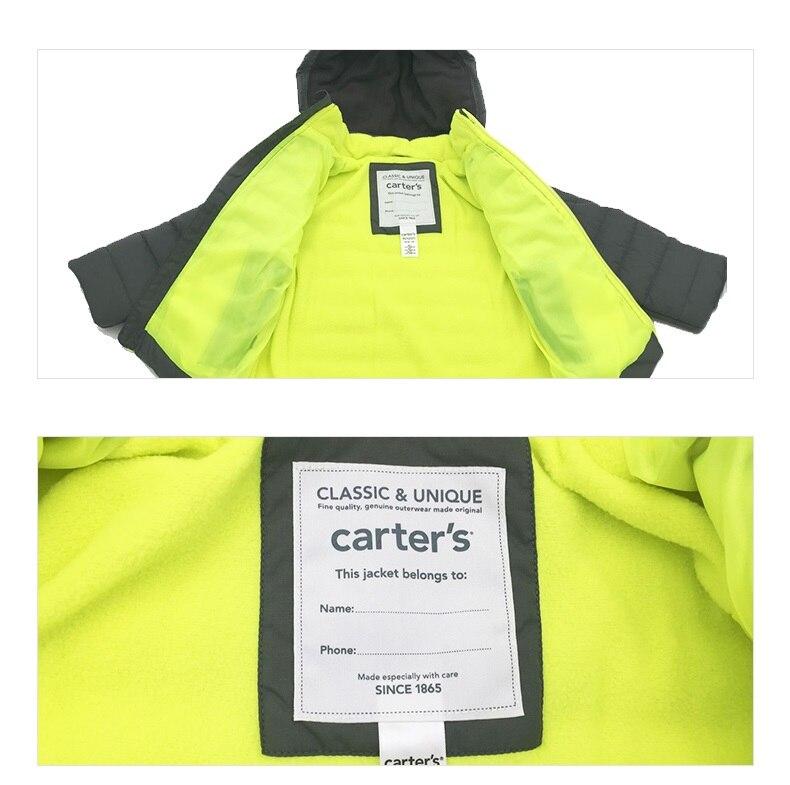 9ee7d3fec Carter's 1pcs baby children kids Fleece Lined Puffer Jacket fall ...