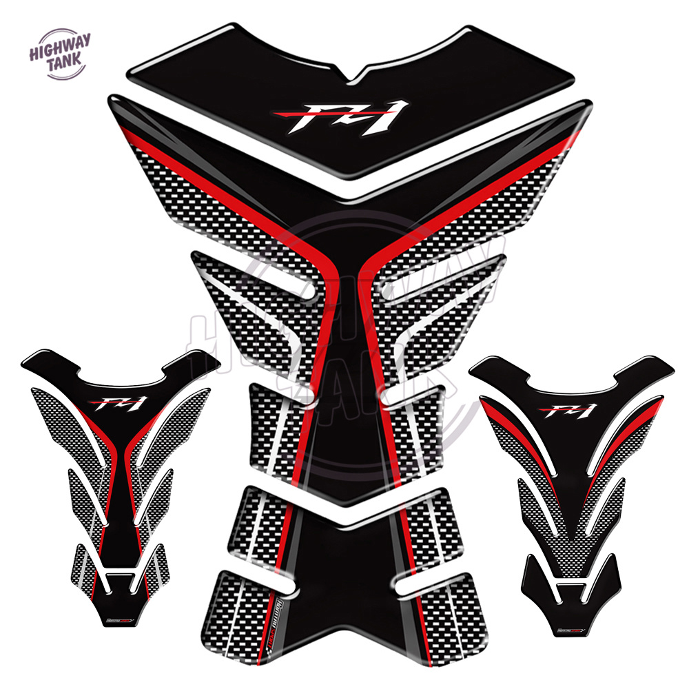 3D Carbon-look Motorcycle Tank Pad Protector Decal Stickers Case For Yamaha FZ1 FZ 1 FZ1N Tank