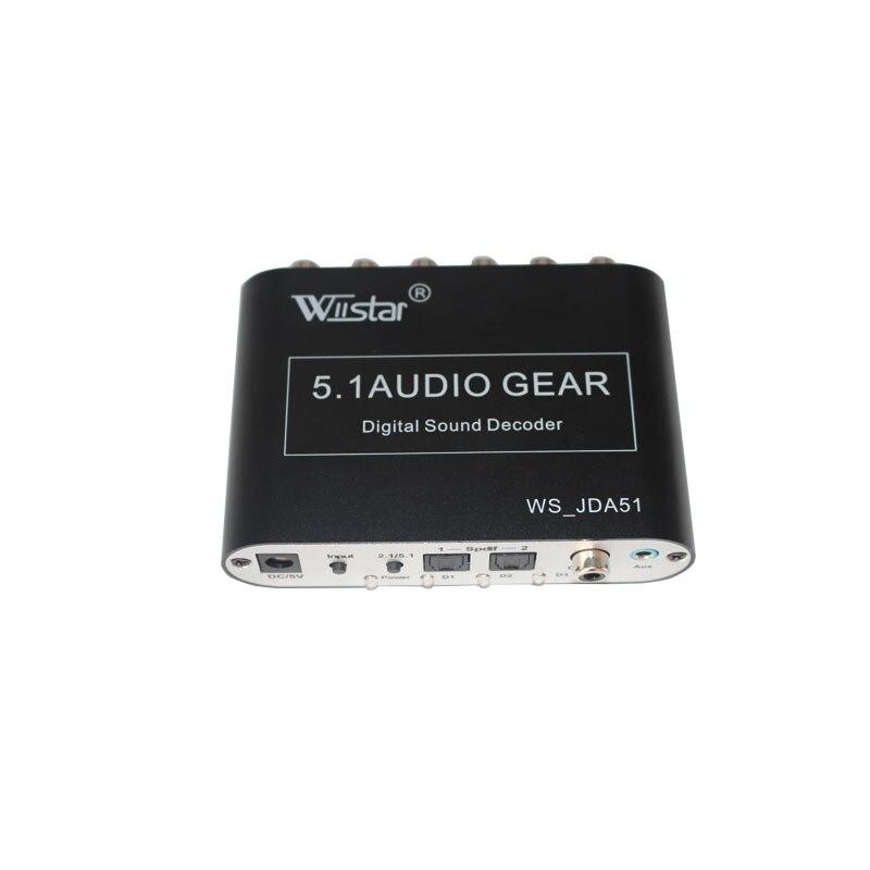 Wiistar 5.1 CH audio décodeur SPDIF Coaxial à RCA DTS AC3 numérique à 5.1 Amplificateur Analogique Convertisseur pour PS3, lecteur DVD, Xbox