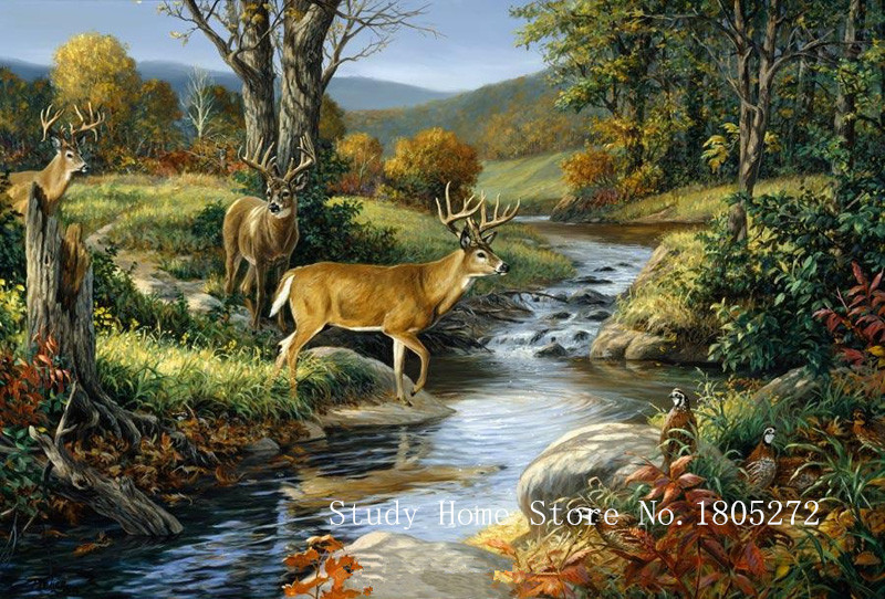 Landscape painting DIY Diamond Painting Needlework Diamond