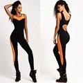 Mulheres negras macacão de fitness feminino trabalhar fora roupas para mulheres magras romper bodysuit musculação sportswear dos impostos especiais de consumo em geral 671