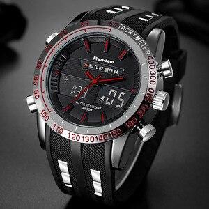 Image 3 - 新 2018 ブランド readeel 男 led ディスプレイ高級メンズ腕時計デジタル軍事メンズクォーツ腕時計レロジオ masculino