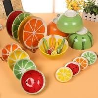 Japonia i Korea Południowa kreatywny wzór ceramicznych owoców miski i dania kuchni pojemnika na żywność
