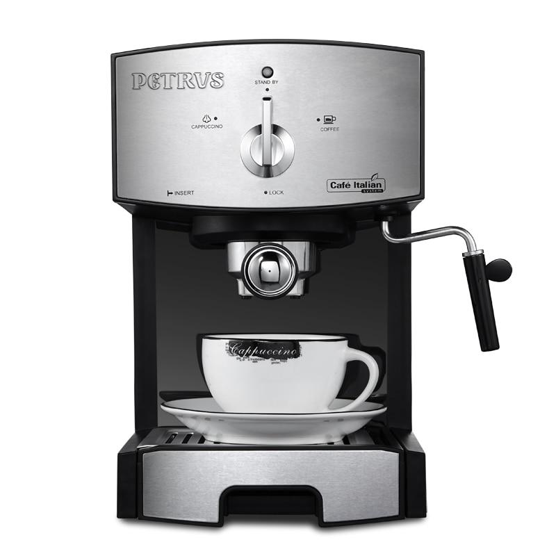 Italian High Pressure Steam Coffee Machine PE3360 20bar 220-240v Stainless Steel Household Espresso Coffee Maker