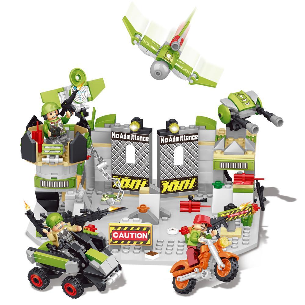 Lepin Technique Mini blocs de construction boîte de rangement Compatible Legoings Militaire Juguetes Mini Chiffres blocs jouets Pour Enfants