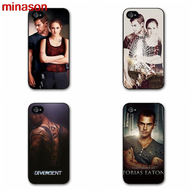 Minason Divergent Movie Symbols Poster Cover Case For Iphone 4 4s 5