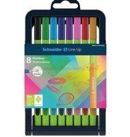 Schneider Line Up 0 4mm Multicolor Fiber Needle Pen 8 Color Set School Office Supplies