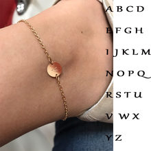 Fashion gold bracelet and ladies bracelet adjustable simple bracelet letter anklet ladies jewelry party gift(China)