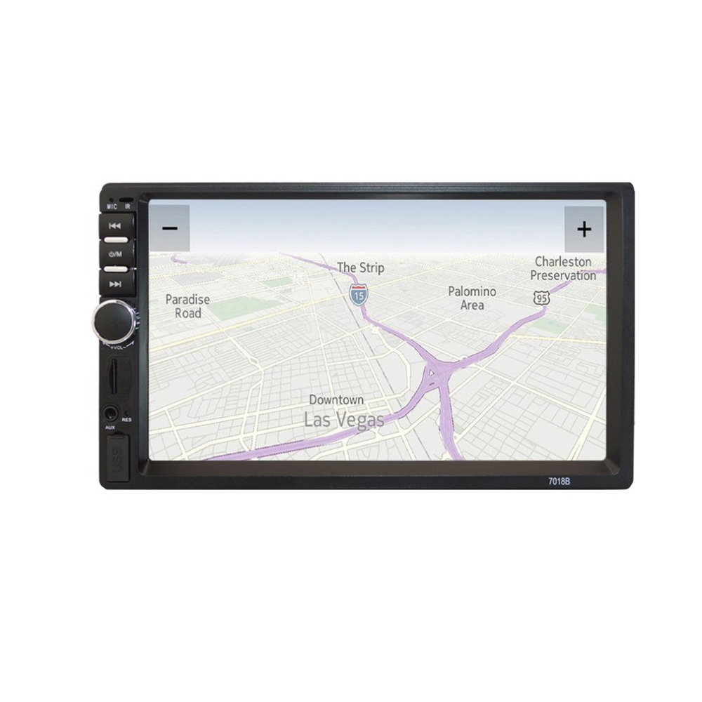 7-inch HD MP5 Touch Screen Bluetooth In Dash DVD 12V 2 Din Car Stereo Radio FM Function AUX USB MP3 MP5 Player Support TF 7 hd 2din car stereo radio bluetooth mp5 player gps navigation support usb tf aux aux fm radio 8g map cardfor bmw toyota mazda