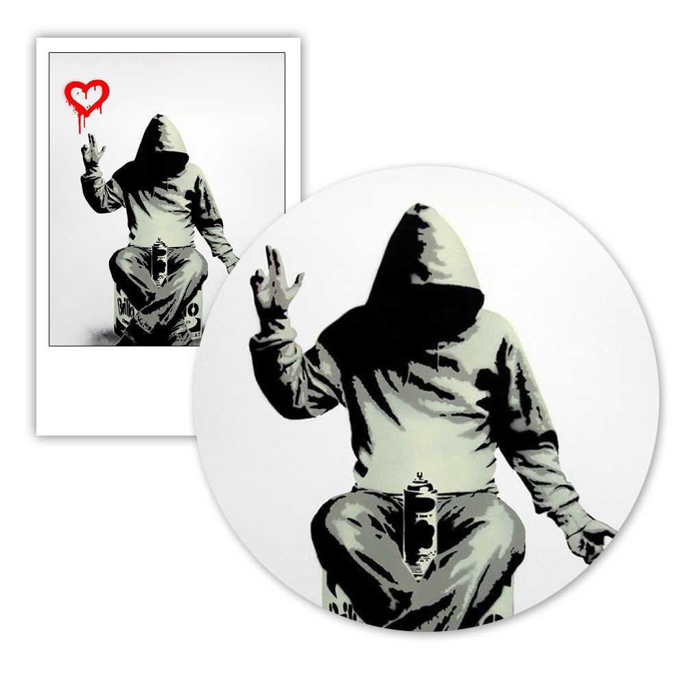 Банкси Улица граффити печати картина мальчик Любовь Деньги стены искусства плакаты и принты настенные картины для спальни