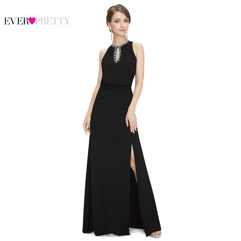 [Clearance Sale] Ever Pretty Women Vintage Evening Dresses A Line Elegant Sleeveless Side Split Formal Party Evening Dress