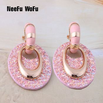NeeFu WoFu Leather Earring Drop Big Earrings jewelry Long oval Dangle Woman career Brinco Ear Oorbellen.jpg 350x350 - NeeFu WoFu Leather Earring Drop Big Earrings jewelry Long oval Dangle Woman career Brinco Ear Oorbellen Christmas Gift