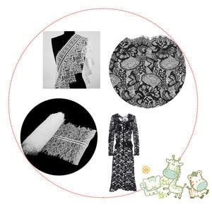 Image 5 - 3 야드 클래식 속눈썹 레이스 트림 블랙 & 화이트 부드러운 꽃 클래식 레이스 패브릭 장식 공예 드레스 장식 만들기위한 바느질