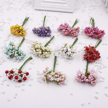 10pcs / lot Stamens Silk Artificial Berry Mousse Principal Gift Set DIY Flower Wreath Wedding Decoration