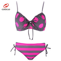 Women S Plus Size Bikini Set Explosion Models Neoprene Dot Swimwear Free Shipping Triangle Vintage Soft