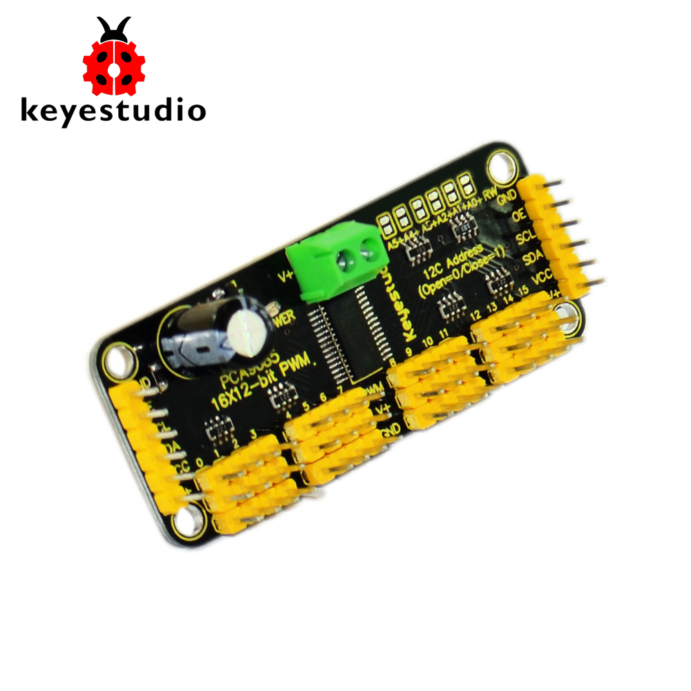 Keyestudio 16-Channel Servo Motor Drive Board With12-BIT PWM-12C Interface For Arduino Robot