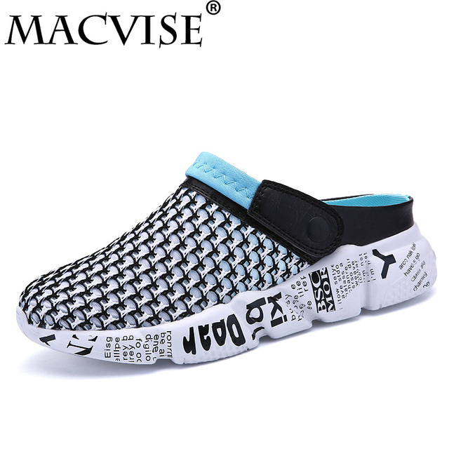 4d19aff8dec8 2018 New Men Summer Shoes Slip-on Croc Clogs Water Sandals Breathable light  Casual Slippers