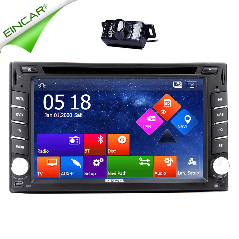 Logo 3D SD FM Autoradio USB EQ Audio Car DVD Player Stereo Video Touch Screen CD MP4 8GB GPS Map Music Radio Auto