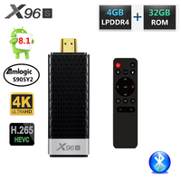 X96 X96S DDR4 4GB RAM 32GB ROM Mini PC Smart Android 8.1 TV Box Amlogic S905Y2 TV Stick Dongle WiFi Bluetooth 4K HD Media Player