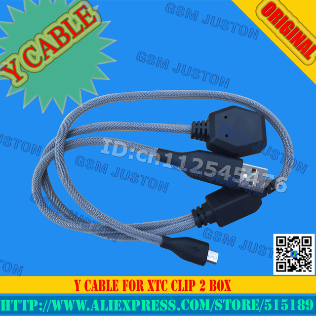Y cable For xtc clip2 box Free shipping