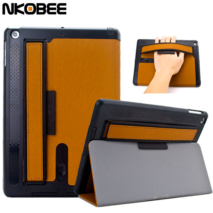 NKOBEE Case For iPad Air 9.7Smart Leather Case for iPad Air 1 New For iPad 9.7 2017 Case Stand Fold Case for ipad Air 2 Tablet