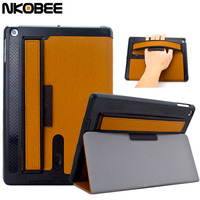 Superior Leather Case For IPad Air With Arm Band And Loud Speaker Smart Cover Stand Fold
