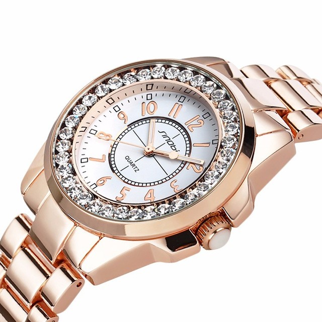 Ladies Gold Diamond female Watch 2