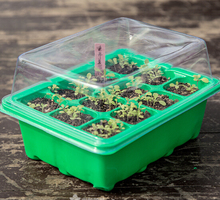 5 set seed trays plant germination kit grow starting durable plastic with humidity dome and base 60 cells all koram plant tags