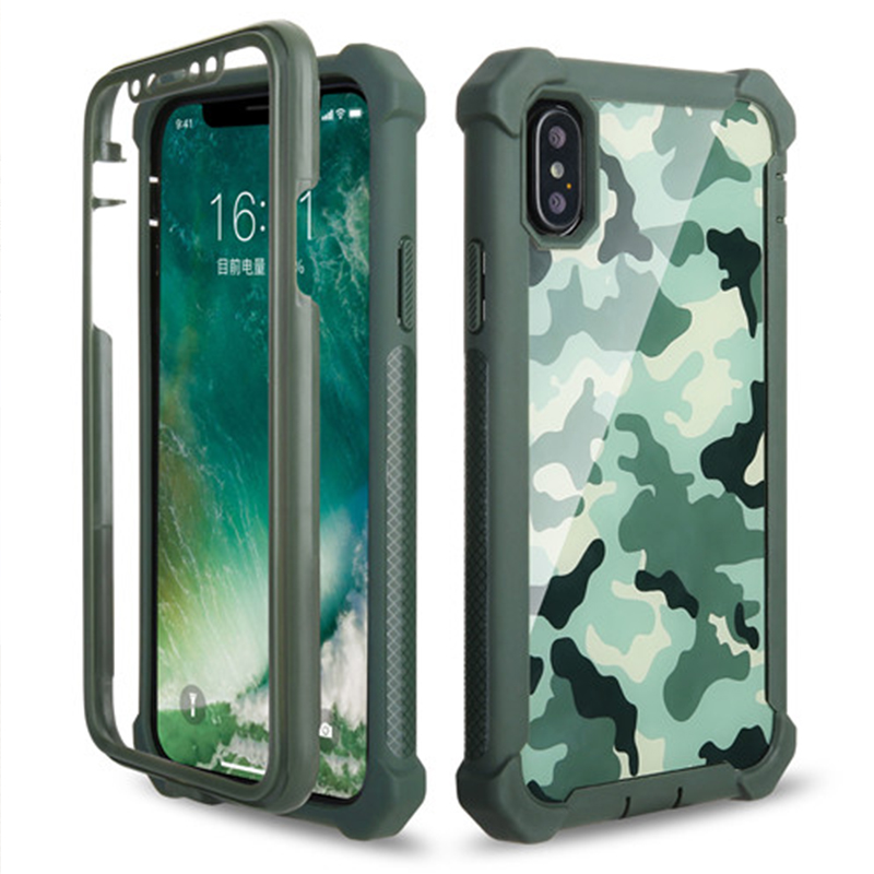 Shockproof Armor Camo Phone Case For IPhone XS MAX XR X 6 6S 7 8 Plus Camouflage Case For Samsung S9 Plus Note 8 9 Cover