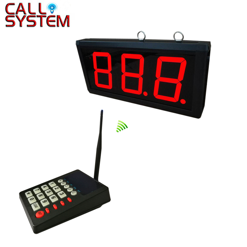 1 transmitter K 999 with 1 display K 403 Restaurant queue paging system customer serivce calling