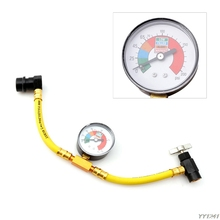 1/2 R134a Refrigerant Recharge Hose Can Tap Car Air Conditioning Pressure Gauge Auto Air-conditioning Installation- G6KC